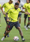 Gabriel Barbosa durante primeiro treino do Flamengo em Doha, no Qatar