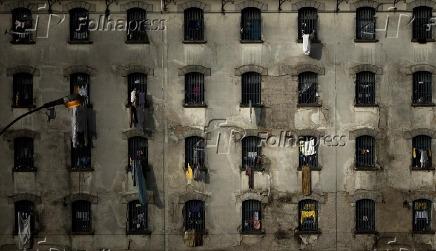 Pavilhão de penitenciária feminina na capital paulista em 2010