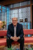 Geraldo Alckmin nos estúdios da TV Bandeirantes