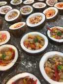 Ceviche de peixe branco e de frutos do mar
