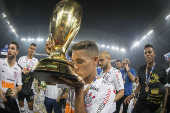 Jogadores do Corinthians comemoram título do Campeonato Paulista 2019