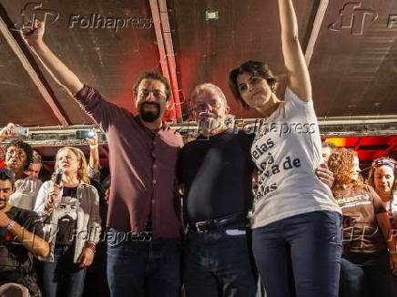 Guilherme Boulos, Lula e Manuela D'ávila