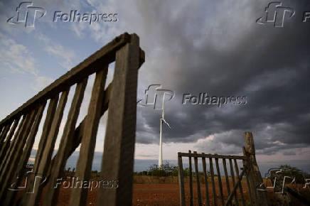 Torre do parque eólico Casa Nova I, no norte da Bahia