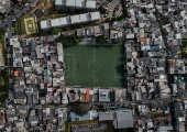O campo da Arena Palmeirinha, em Paraisópolis, na zona sul de são Paulo