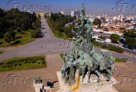 imagens aereas do Museu do Ipiranga em Sao Paulo