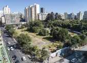 Vista aérea do parque Augusta, em São Paulo
