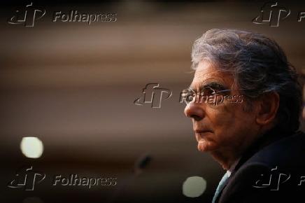 Carlos Ayres Britto durante palestra no III Colóquio sobre o STF