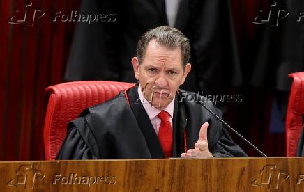 João Otávio de Noronha em sessão que julga registro da Rede