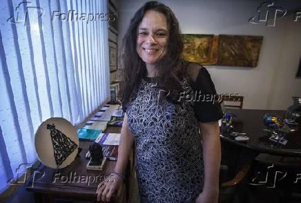 Janaina Paschoal em seu escritório, em São Paulo