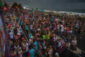 Bloco Simpatia É Quase Amor desfila no bairro de Ipanema, no Rio de Janeiro
