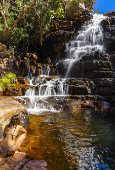 Cachoeira dos Anjos e Arcanjos, atração turísticas do Parque Nacional da Chapada dos Veadeiros