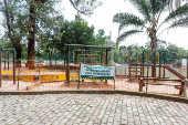 Área interditada por contaminação no parque da Aclimação, em SP