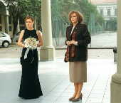 As atrizes Adriana Esteves e Irene