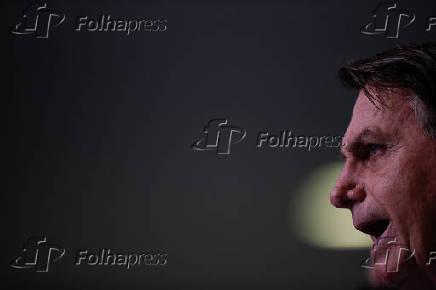 O presidente Jair Bolsonaro anuncia auxílio emergencial