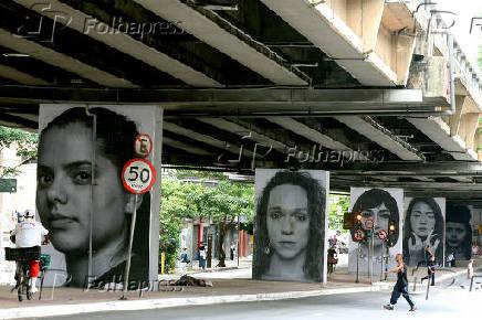 Retratos que fazem parte do projeto