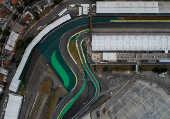 Vista aérea do autódromo de Interlagos, em SP