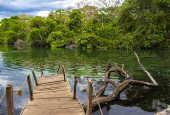 Vista da Lagoa do Japonês, uma das atrações turísticas do Parque Estadual do Jalapão