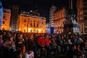 Evento musical no Páteo do Colégio durante a Virada Cultural 2019