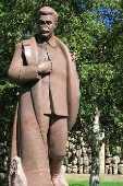 Estátua de Josef Stalin no parque Górki em Moscou na Rússia