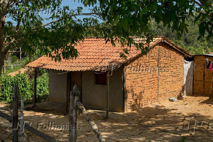 Casa de Casa de pau a pique no distrito de Maragogipinho, em Aratuípe