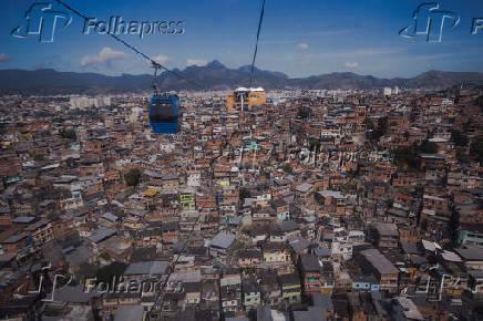 Vista do morro do Alemao no Rio de Janeiro