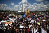 Protesto contra os cortes na educação propostas pelo governo do presidente Bolsonaro, no DF