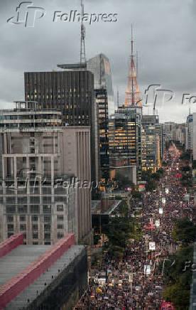 Ato contra os cortes na educação proposto pelo governo do presidente Jair Bolsonaro
