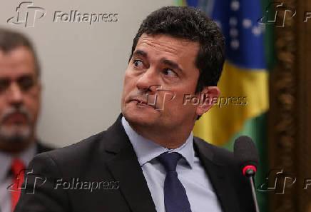 Sergio Moro em sessão na Câmara dos Deputados sobre as mensagens
