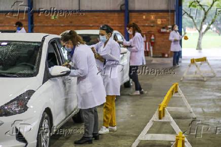 Vacinação em profissionais da educação em Santa Maria (RS)