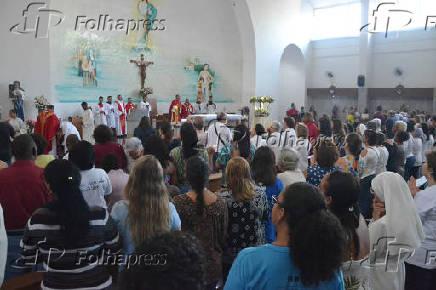 Missa em homenagem a Irmã Dulce, realizada no Santuário em Salvador (BA)