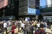 Começo de ato contra o governo no centro de Hong Kong