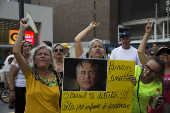 Protesto contra a candidatura de Renan Calheiros à presidência do Senado Federal