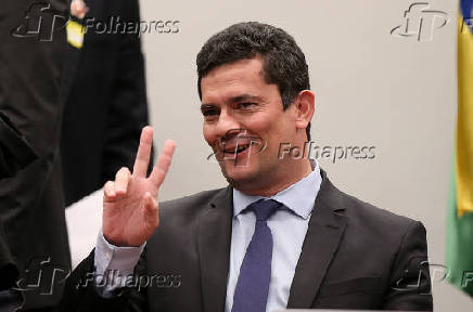 O ministro da Justiça, Sergio Moro, presta depoimento à CCJ da Câmara