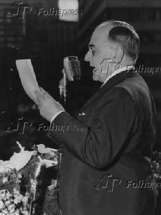 O presidente Getúlio Vargas