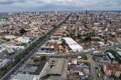 Vista aérea do bairro de Queimadinha, em Feira de Santana