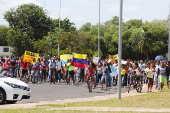 Aproximadamente 500 imigrantes venezuelanos foram as ruas da cidade Boa Vista, Roraima