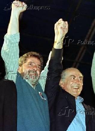 Lula e Brizola campanha 1998