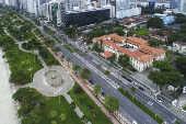 Vista aérea de Santos (SP)