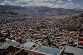 Vista aérea de La Paz, na Bolívia