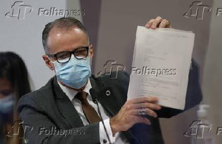 Diretor-presidente da Anvisa, Antônio Barra Torres, em depoimento à CPI da Covid