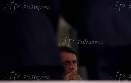 O presidente Jair Bolsonaro durante evento no Palácio